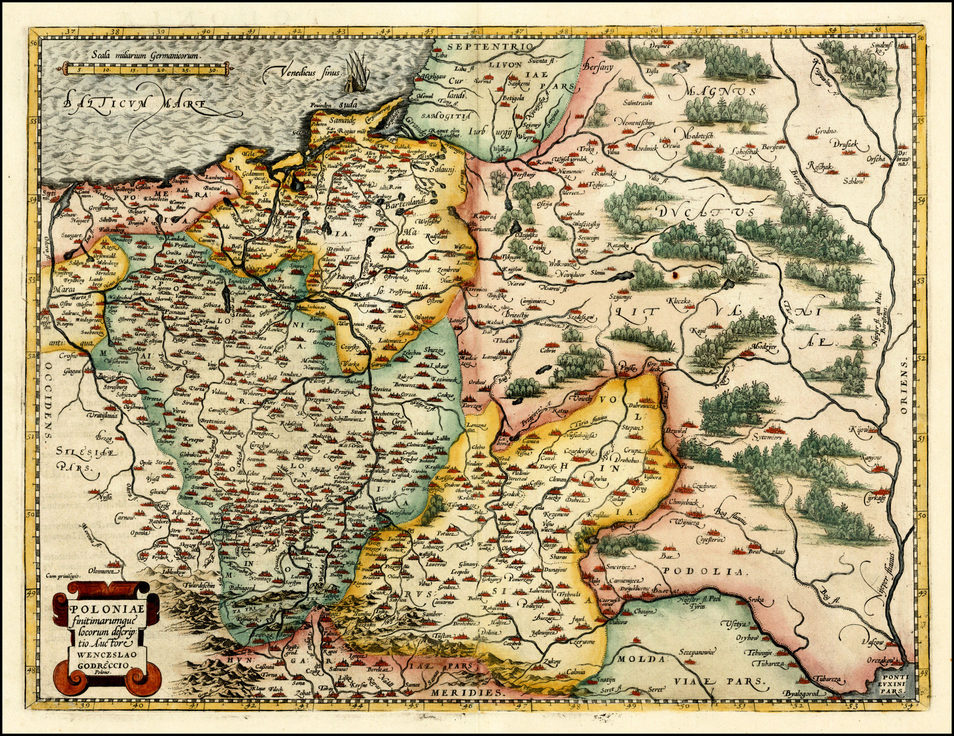 on the munster map to the left but has more detail this is a detail image with the complete map at the upper left from wwwvintage mapscom