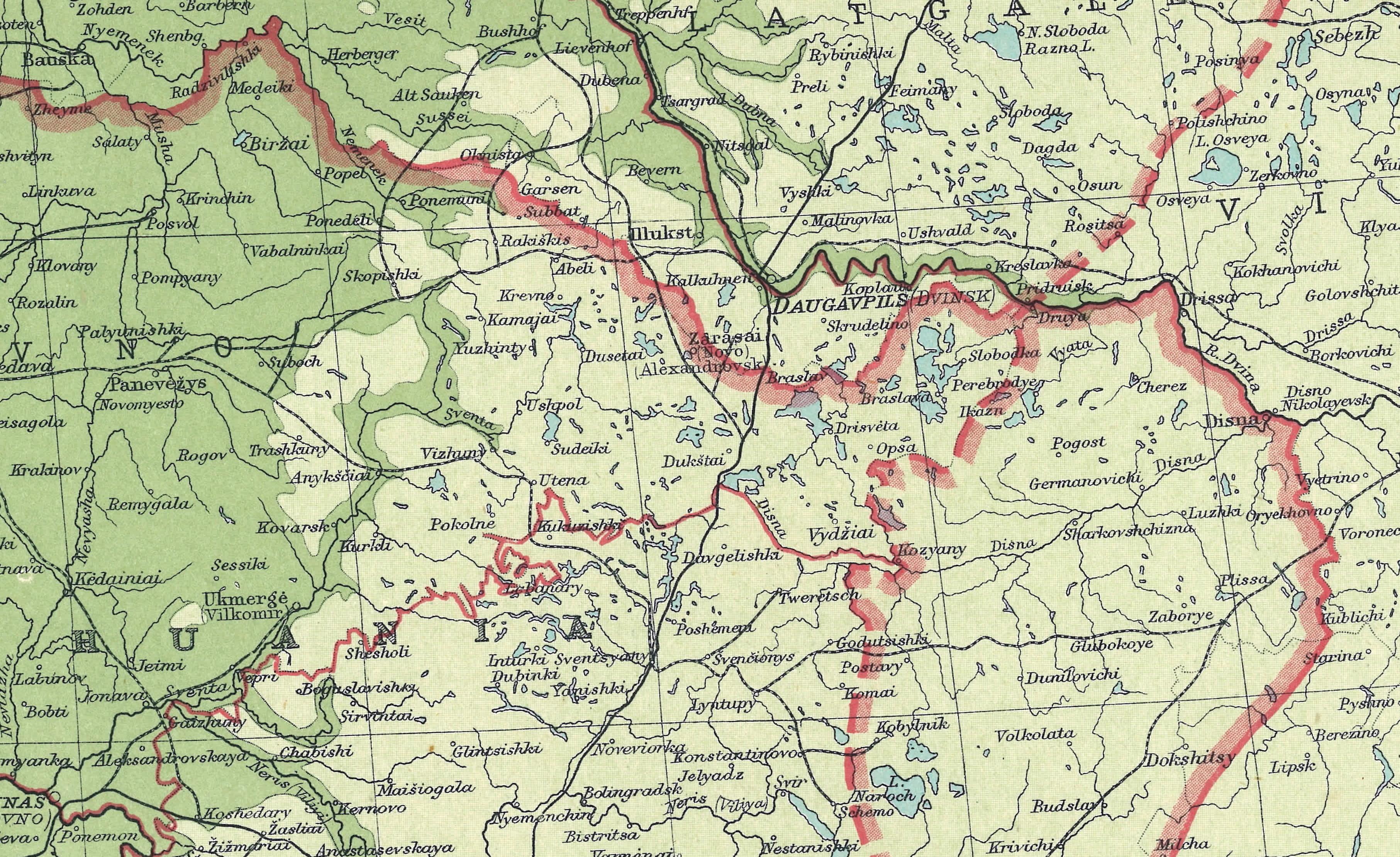Maps - Bottom half of us map