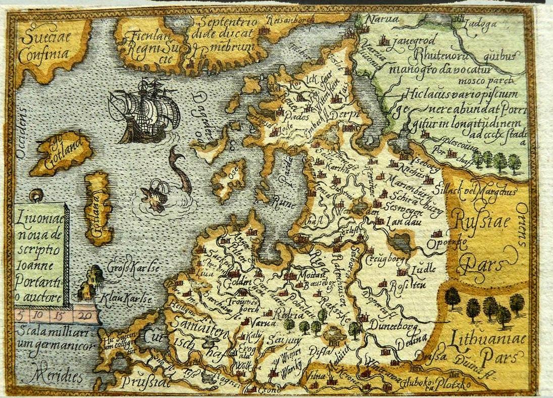 c1579 philippe galle publisher abraham ortelius livonia nuoa de scriptio ioanne portantio auctore antwerp in four versions