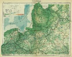Maps - Lithuania physical map